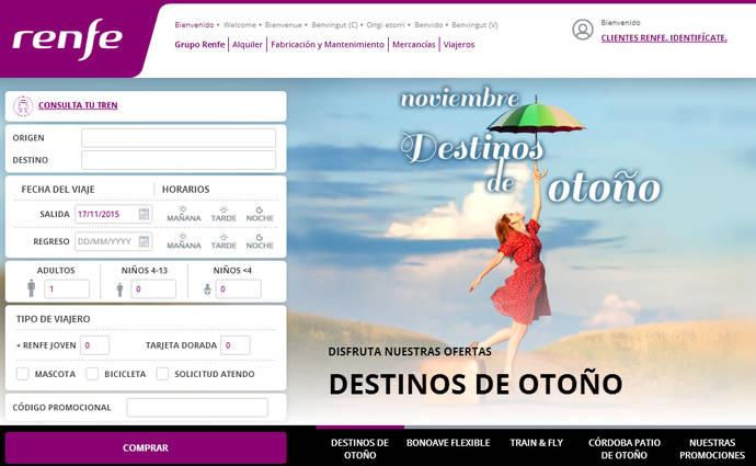 La venta directa 'online' de Renfe aumenta un 10%