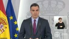 La intervención del presidente del Gobierno, Pedro Sánchez.
