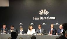 La rueda de prensa celebrada en las instalaciones de Fira de Barcelona.