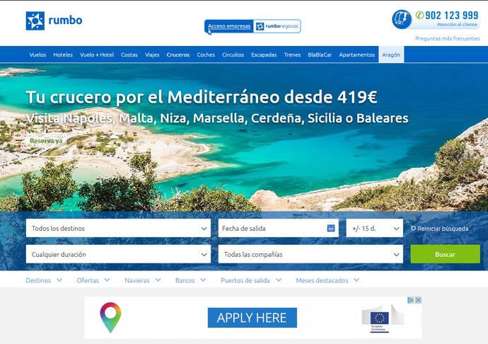 Lastminte apuesta por la venta 'online' de cruceros