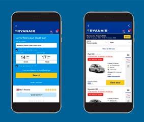 Ryanair amplía su oferta de alquiler de coches con Rentalcars.com