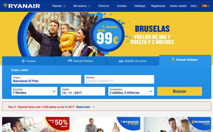 Ryanair venderá a sus clientes entradas a espectáculos