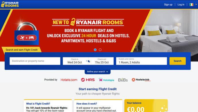 Ryanair Rooms: estrategia agresiva y aumento de la oferta