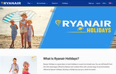 Ryanair relanza su canal de 'paquetes' en España