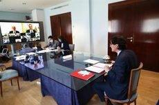 El ministro de Sanidad, Salvador Illa, durante la reunión de ministros.