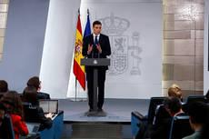 Pedro Sánchez, en el anuncio de la composición del nuevo Gobierno.