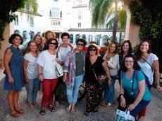 El grupo de secretarias en su viaje por la Costa del Sol.