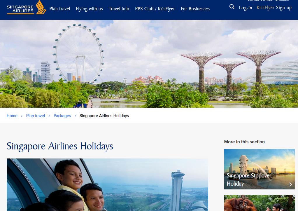 Singapore Airlines se suma a la moda de vender 'paquetes'