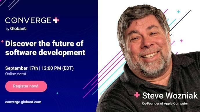 17/09: Globant Converge, con Steve Wozniak