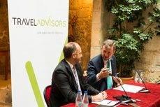 José Miguel Gimeno y Javier Lacalle durante la rueda de prensa en Burgos.