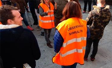 Simulacro de evacuación en el Palacio Tarragona