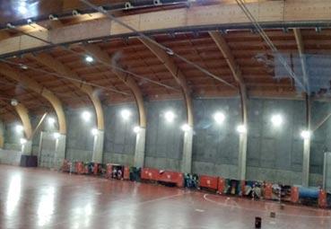Teruel instala luminaria led en el recinto congresual