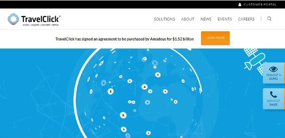 Amadeus adquiere TravelClick por 1.300 millones