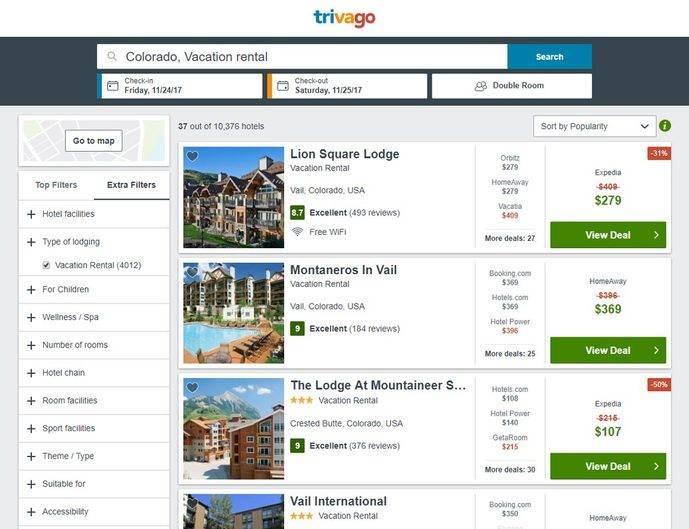 Trivago amplía su plataforma con la integración de HomeAway
