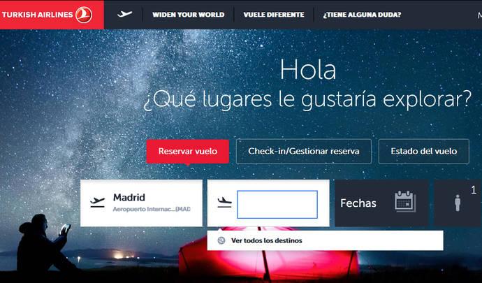 Turkish Airlines lanza una nueva web en español