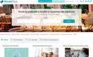 VenuesPlace cuenta con 4.000 espacios en toda España