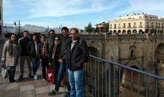 El grupo de profesionales de India.