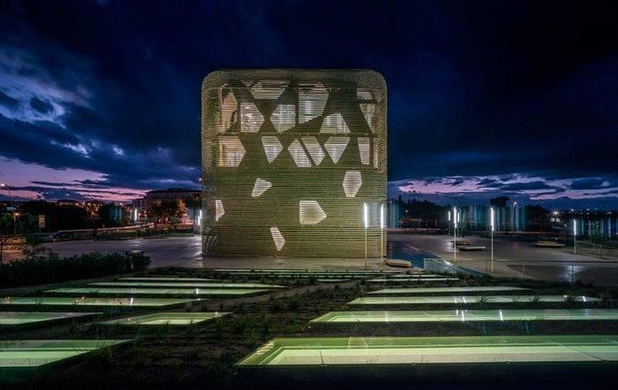 El Palacio de Congresos y Exposiciones Vegas Altas, en Villanueva de la Serena.