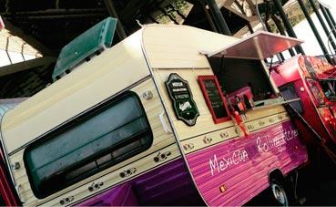 La comida mexicana de un 'food truck' para eventos