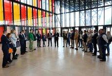 La visita de los empresarios de León al nuevo Palacio de Exposiciones.