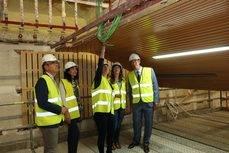 La visita de los representantes públicos a las obras del Palacio de Congresos.