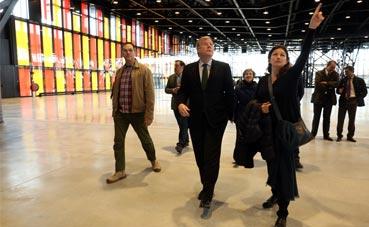 El alcalde de León visita el Palacio de Exposiciones