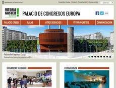 La nueva página web del Palacio de Congresos Europa.