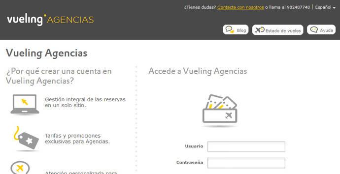 Vueling estrenará a lo largo de 2018 una nueva página web para agencias de viajes
