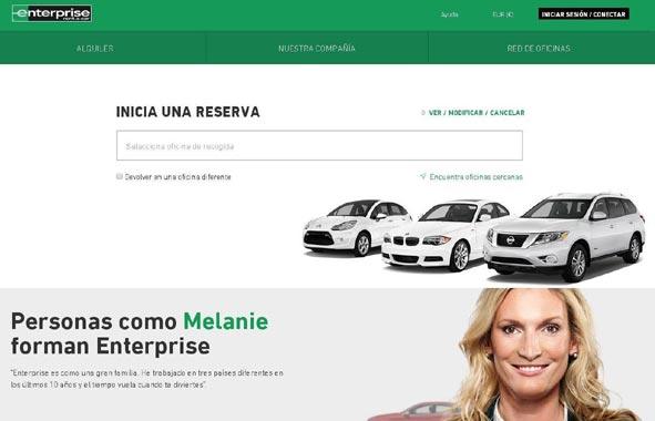 Enterprise desarrolla una nueva 'web' que mejora la experiencia del cliente