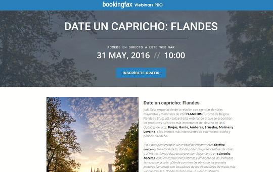 Bookingfax organiza 'webinars' exclusivos para agentes