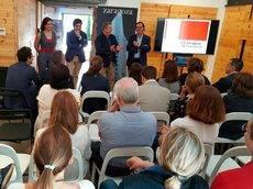 La presentación de Zaragoza en Valencia.