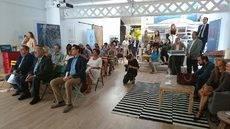 Los profesionales que han asistido a la presentación de Zaragoza en Barcelona.