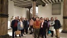 Los Anfitriones durante la visita al Museo Pablo Gargallo.