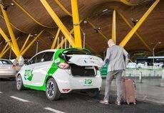Zity llega al aeropuerto de Madrid con Valeet