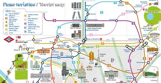 Metro de Madrid lanza un nuevo plano dirigido a turistas para fomentar el uso del suburbano en sus trayectos de ocio