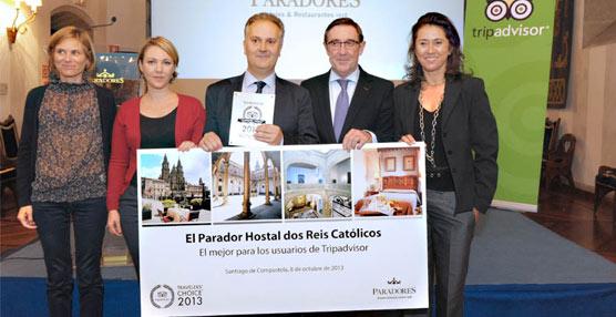El parador Hostal dos Reis Catolicos elegido el mejor de España en los 'Traveller´s Choice Paradores de Turismo'
