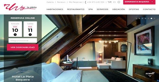 Rafaelhoteles by La Pleta presenta su nueva página web, disponible en español, inglés y francés