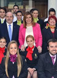 La presidenta de la Junta de Andalucía visita el Hotel Escuela Convento Santo Domingo de Archidona