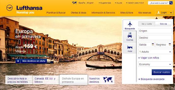Las soluciones de Amadeus impulsan la transformación de la experiencia de compra 'online' de Lufthansa