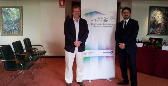 Jorge Marichal, de Ashotel: 'Queremos que el Congreso de Hoteleros muestre a Santa Cruz de Tenerife como una ciudad viva'