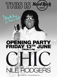 Hard Rock Hotel Ibiza celebrará su 'Grand Opening' el próximo 13 de junio con Nile Rodgers y el grupo Chic