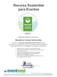 EventSost otorga el certificado de 'Recurso Sostenible' al producto Moqueta en Losetas Salinas de JMT Ambiplan