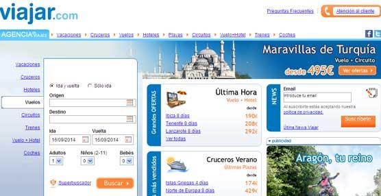 Viajar.com 'infla el precio de los vuelos ofertados en el momento del pago', según una denuncia de Facua