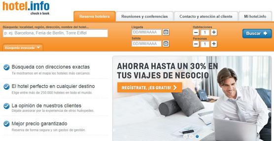 El portal de búsqueda de alojamientos hotel.info ha sido nominada nuevamente al premio 'Website del año'