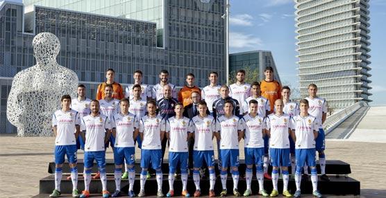 El Real Zaragoza elige como escenario el Palacio de Congresos de la Expo para su foto oficial