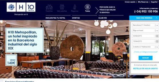 H10 Hotels lanza su web www.h10hotels.com, renovada y con nuevas funcionalidades para los clientes