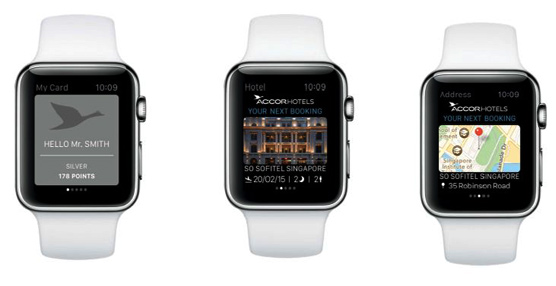 La cadena hotelera Accor lanza a finales de abril la aplicación iOS Accorhotels para los relojes Apple Watch
