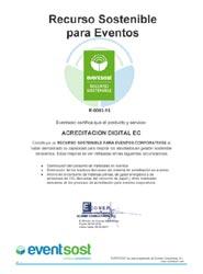 Entry By Secretec recibe la acreditación Recurso Sostenible de Evensost para su producto Acreditación Digital (EC)