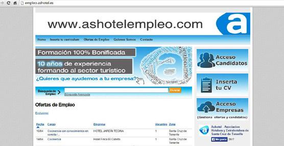 Ashotel es la única patronal hotelera española en la Feria del Mercado Laboral Virtual de Trabajando.com