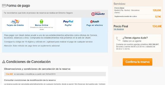 Logitravel introducirá de forma gradual en todos sus servicios el pago en efectivo a través de la solución Ukash